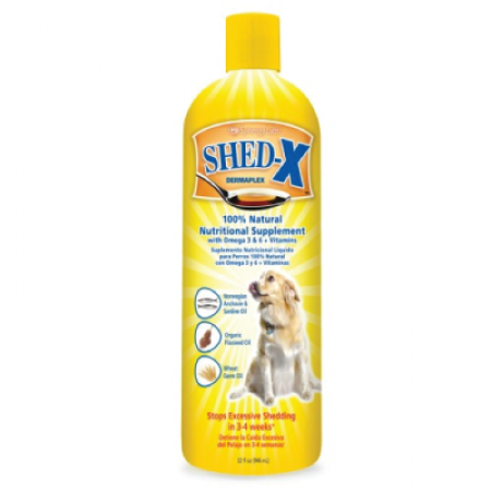 SHED-X DERMAPLEX SHED CONTROL SUPPLEMENT FOR DOGS 473ML