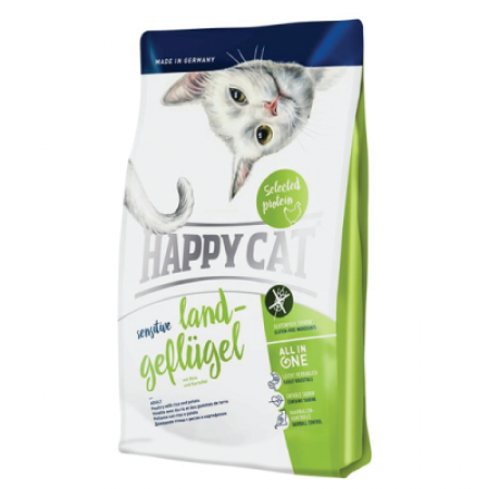 Happy cat sensitive land - geflugel 4kg